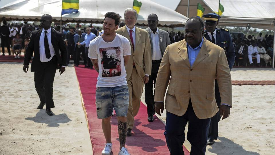 Lionel Messi in Gabon