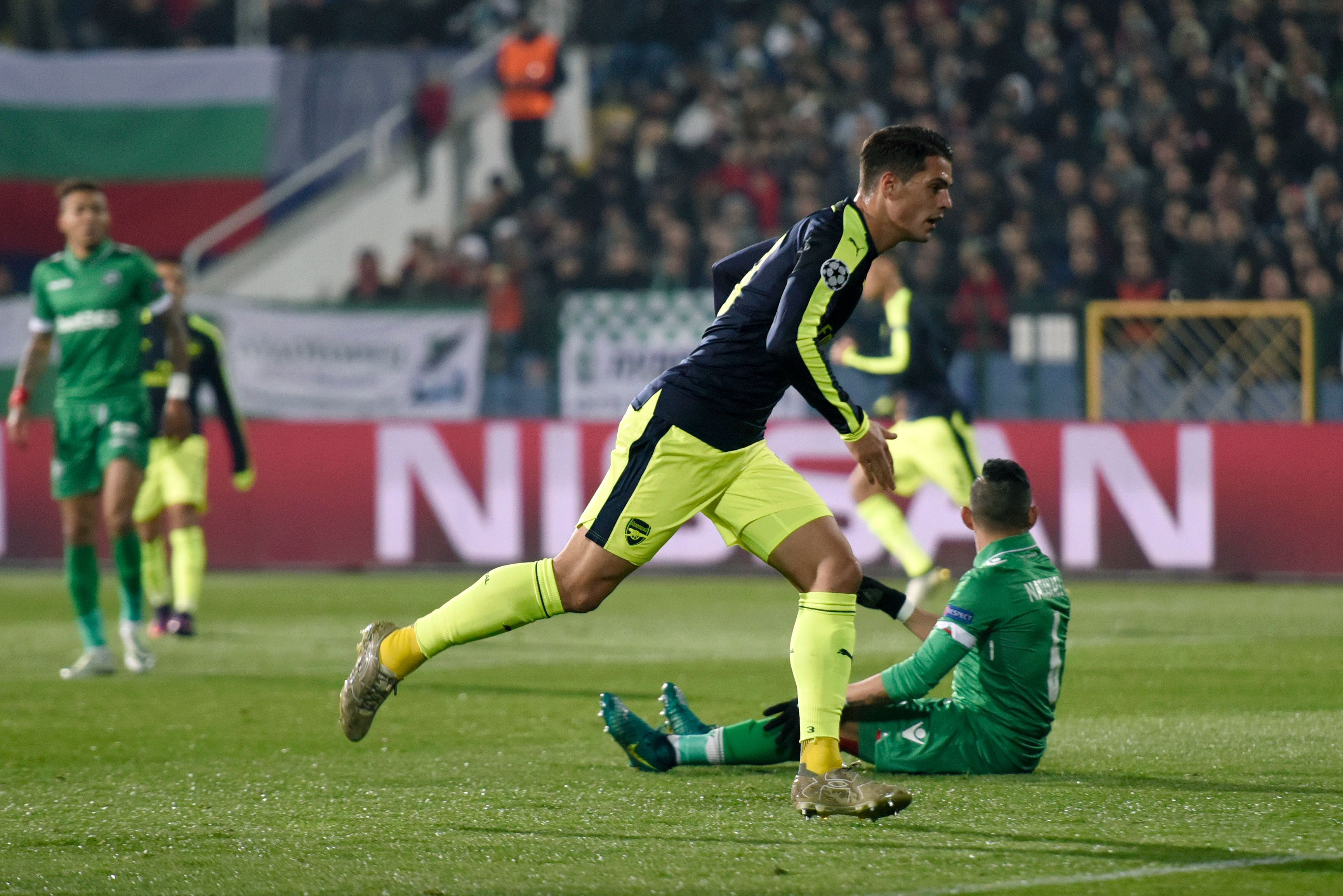 Image result for Ludogorets 2-3 Arsenal: Ozil completes stunning comeback to clinch qualification