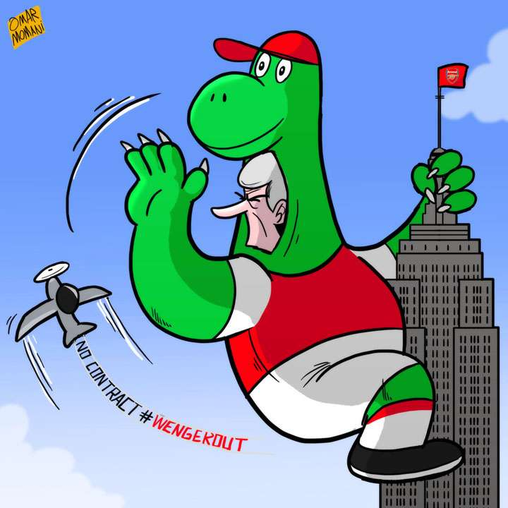 Arsene Wenger dinosaur cartoon