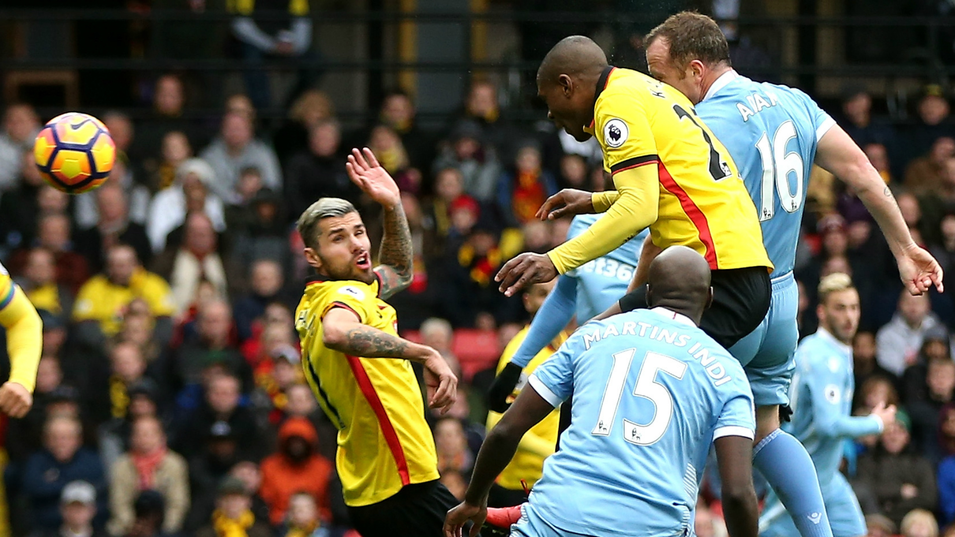 Gomes own-goal helps Stoke to victory over Watford