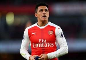 10) ALEXIS SANCHEZ, Arsenal - 17 goal (15 Premier, 2 Champions)