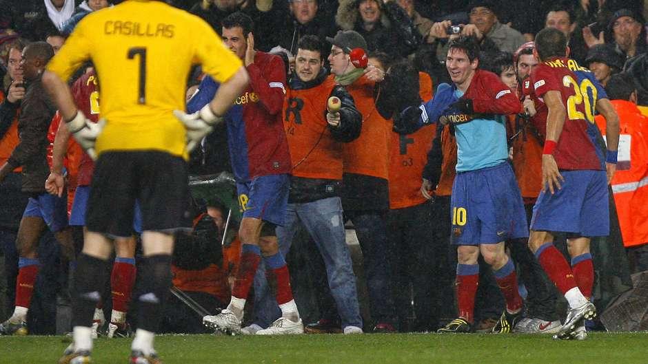 Lionel Messi Barcelona Real Madrid 2008