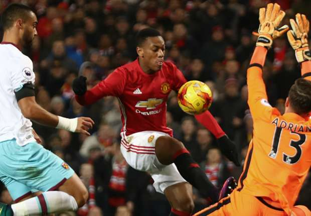 Manchester United 4-1 West Ham: Ibrahimovic & Martial secure spot in final four
