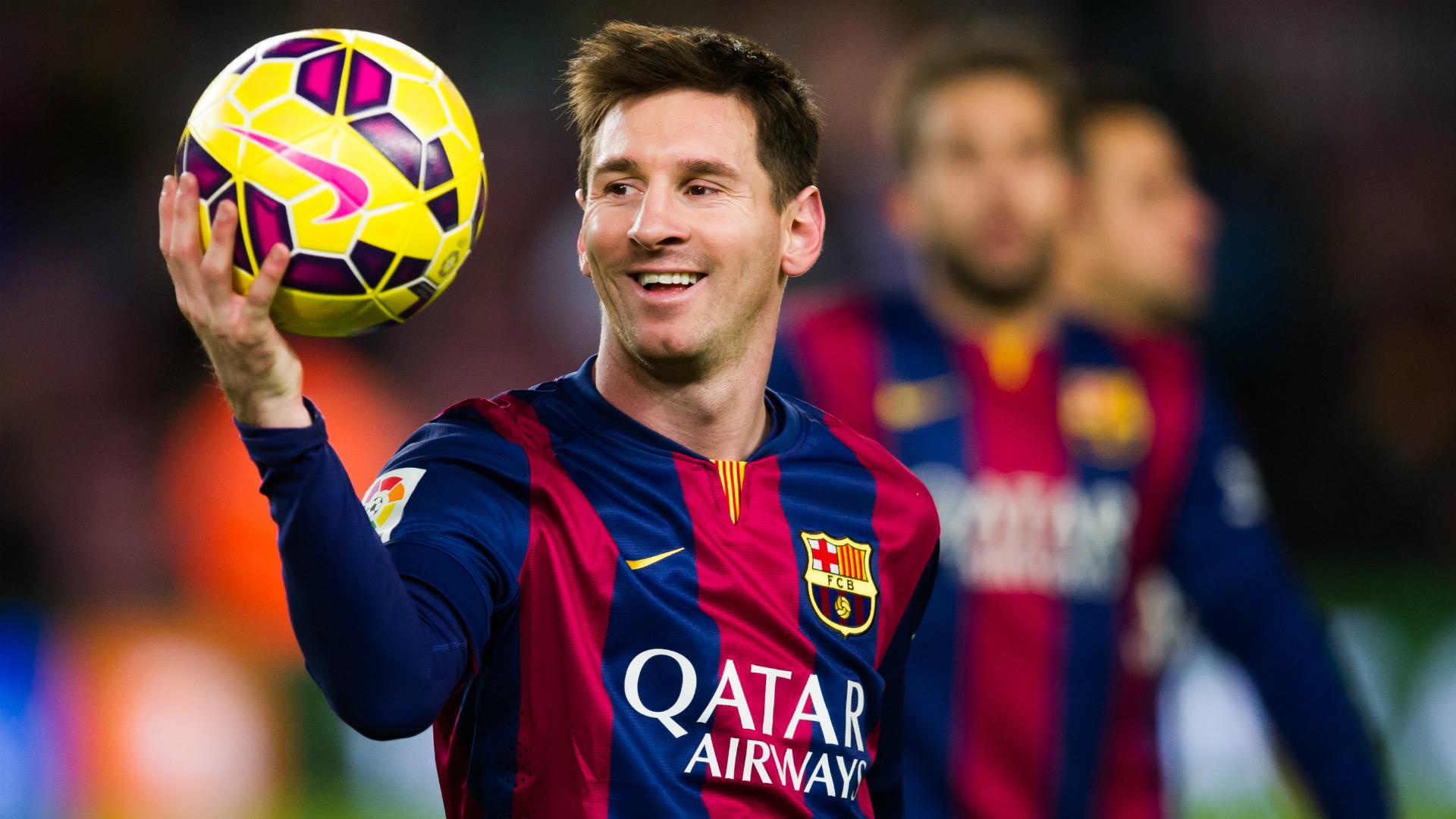 Messi celebration in the rain