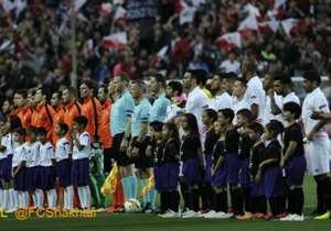 Tolle Atmosphäre erwartete die Teams in Sevilla ...