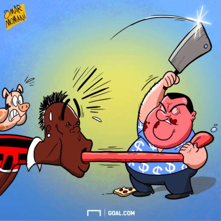 Raiola cartoon Balotelli