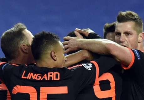 El United rescató un empate en Moscú