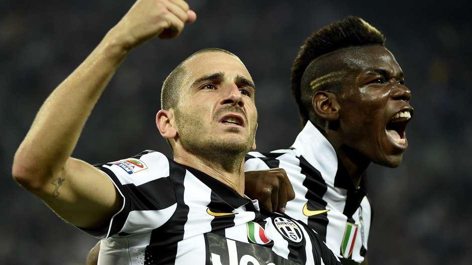 Leonardo Bonucci Paul Pogba Juventus Serie A 05102014
