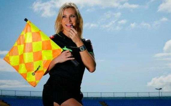 Uliana flying the flag for female match officials
