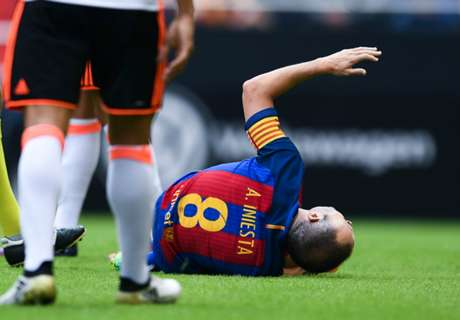 Iniesta out for up to eight weeks