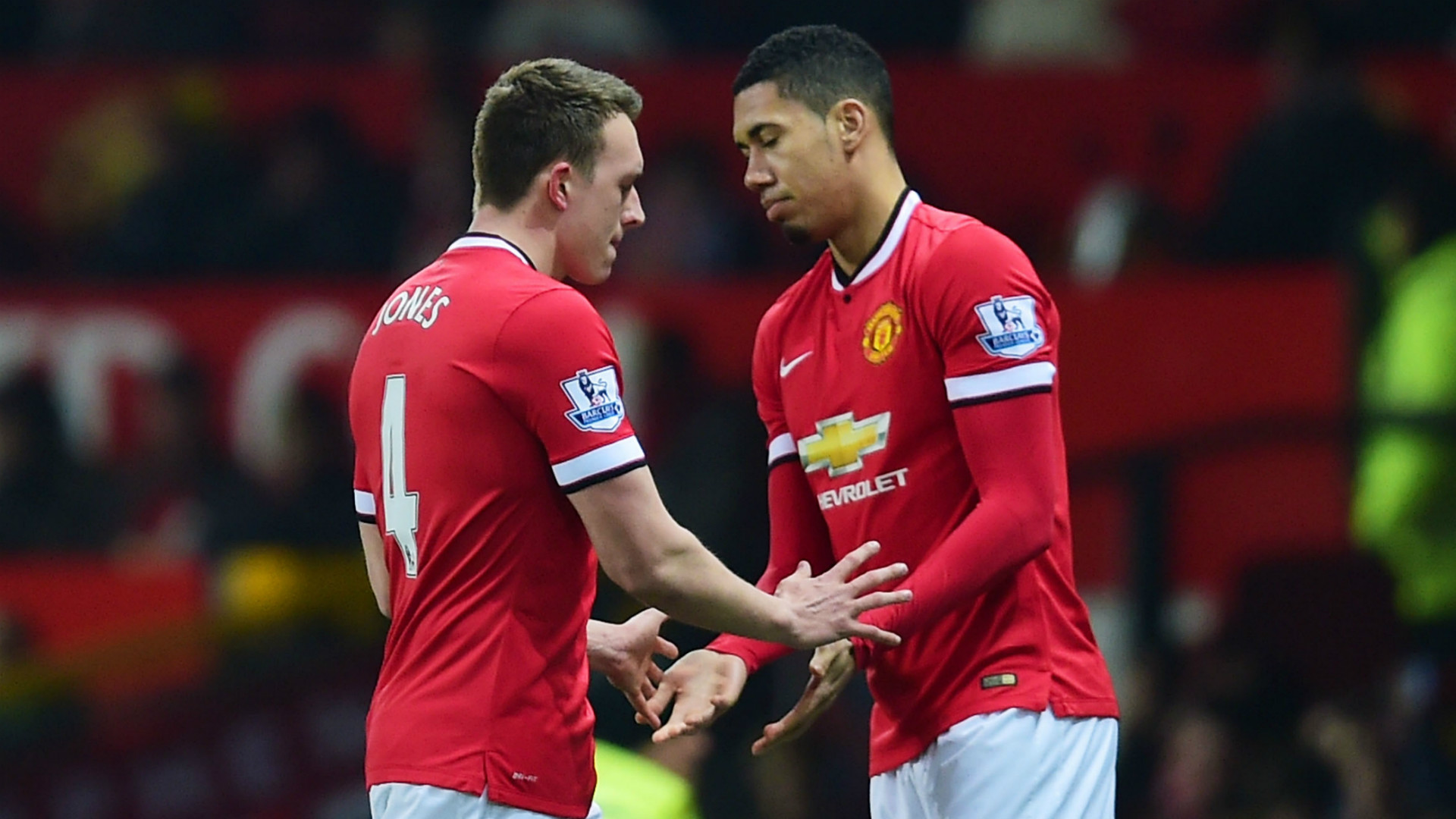 Phil Jones Chris Smalling Manchester United