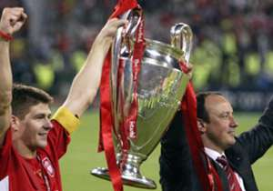 And a debut season in England was crowned with an unlikely triumph as a Steven Gerrard-inspired Liverpool came back from 3-0 down in the Champions League final against AC Milan to win on penalties. Benitez was instantly a club hero, a status he maintai...