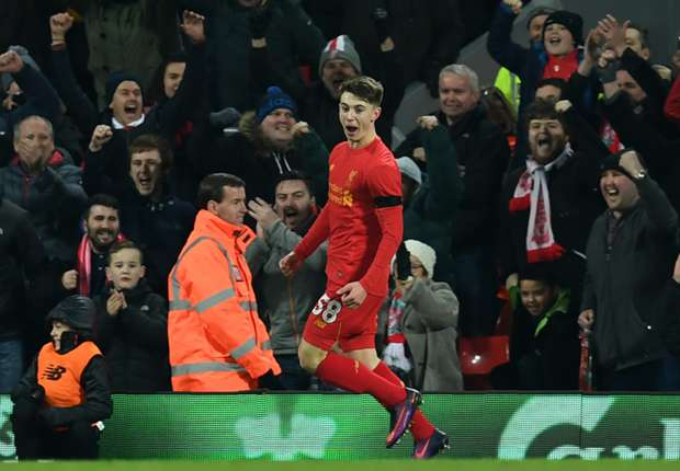 Woodburn becomes Liverpool's youngest-ever goalscorer
