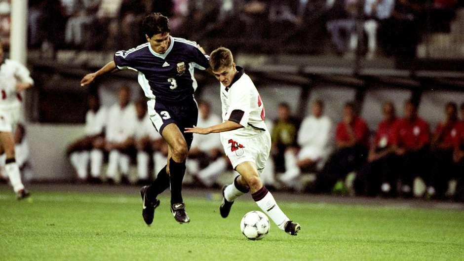 Michael Owen England Argentina 1998 World Cup