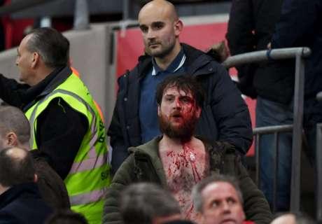 WATCH: Fans clash at Wembley