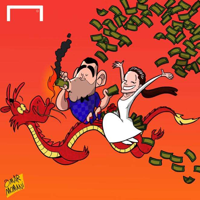 Cartoon Carlos Tevez China