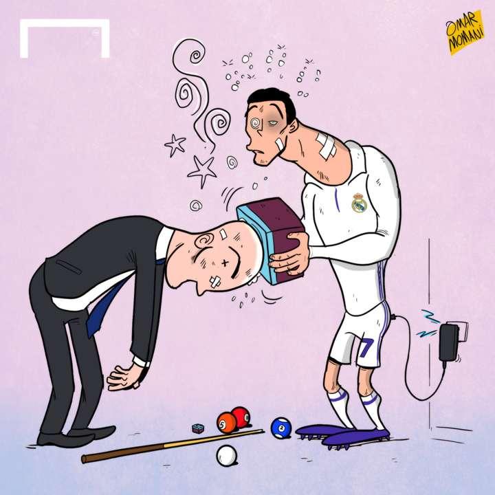 Cartoon Zidane Ronaldo sharpener