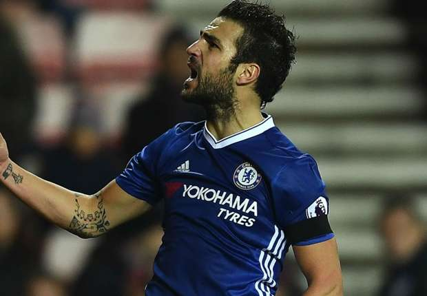 Sunderland 0-1 Chelsea: Cesc fires Conte's table-toppers to another win