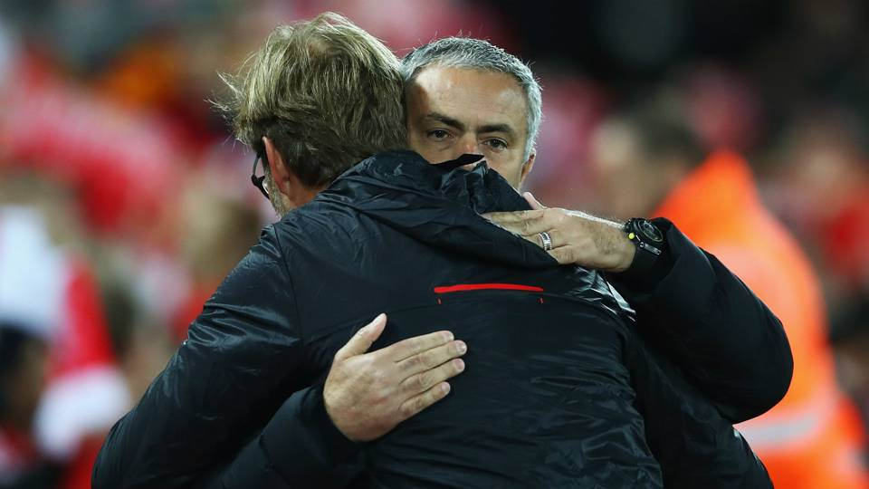 Jose Mourinho Premier League Liverpool v Manchester United 171016