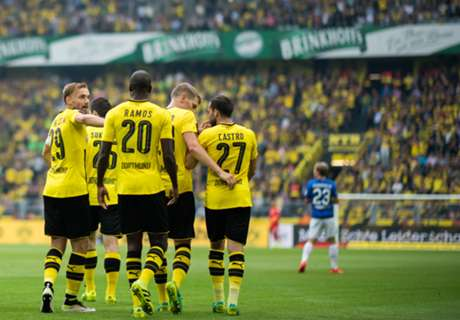 Dortmund hit Darmstadt for six