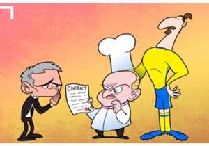 Ibrahimovic da Mourinho con lo chef