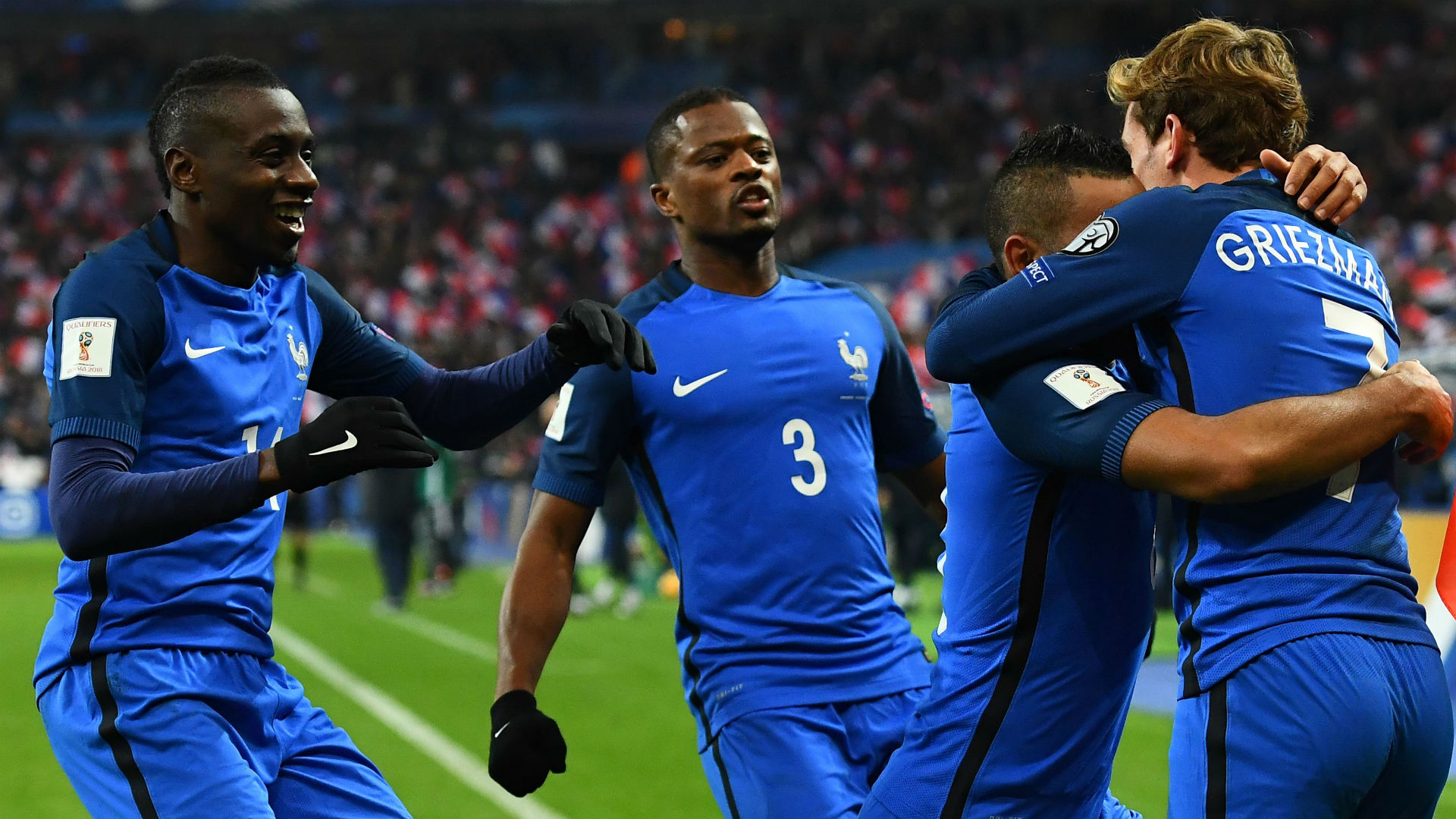 Antoine Griezmann Dimitri Payet France Sweden World Cup Qualifiers 11112016