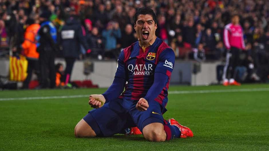 Luis Suarez Barcelona Real Madrid La Liga 22032015