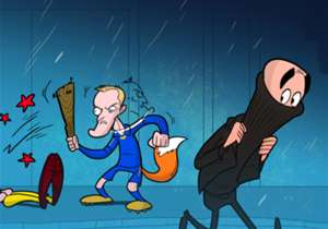 Manchester City boss Pep Guardiola flees after his side took a beating from hat-trick hero Jamie Vardy!