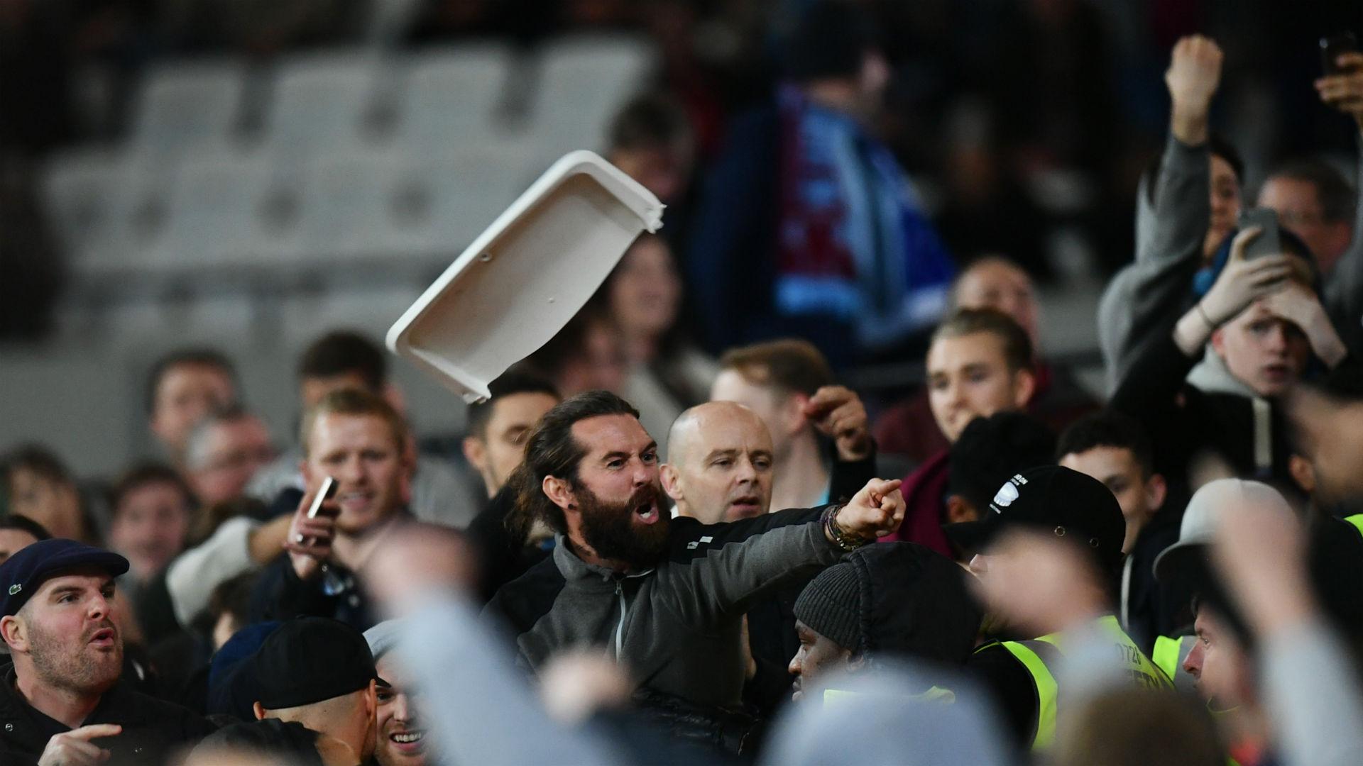 West Ham v Chelsea fans EFL Cup