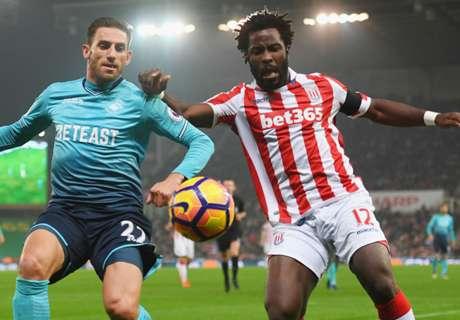 Bony leidt Stoke City naar nieuwe zege