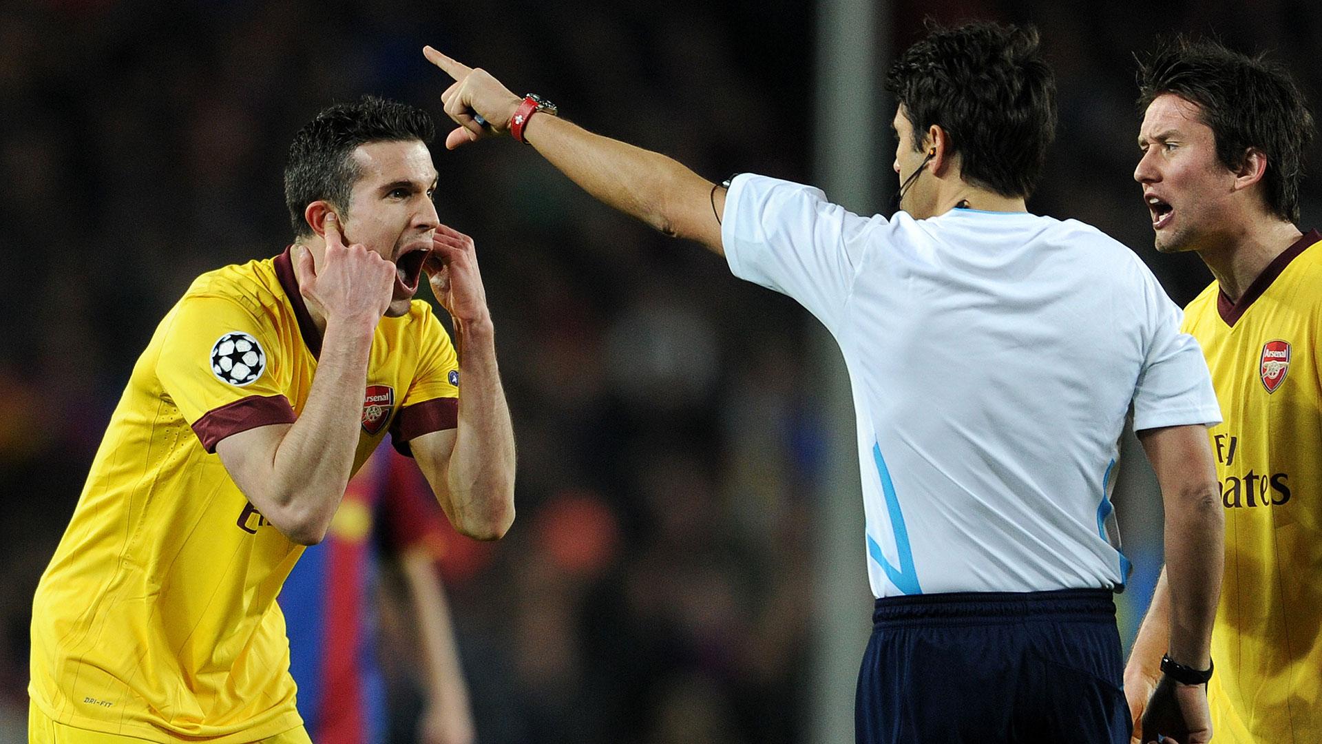 Robin van Persie Arsenal Barcelona