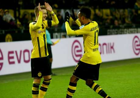 Auba at the double for Dortmund