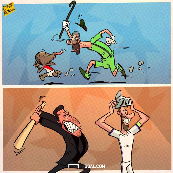 Champions League semis cartoon
