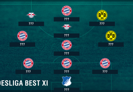 El mejor once de la Bundesliga