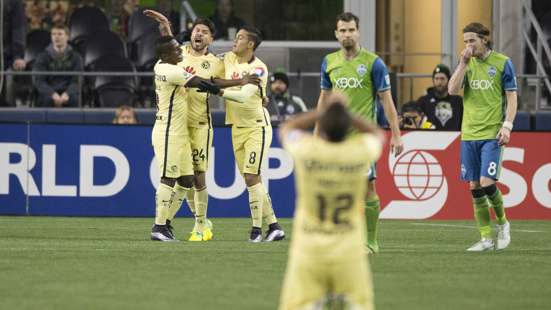 Oribe Peralta Darwin Quintero Andres Andrade Club America Seattle Sounders CONCACAF Champions League 02232016