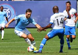 Frank Lampard made his MLS debut for New York City FC Saturday against the Montreal Impact.