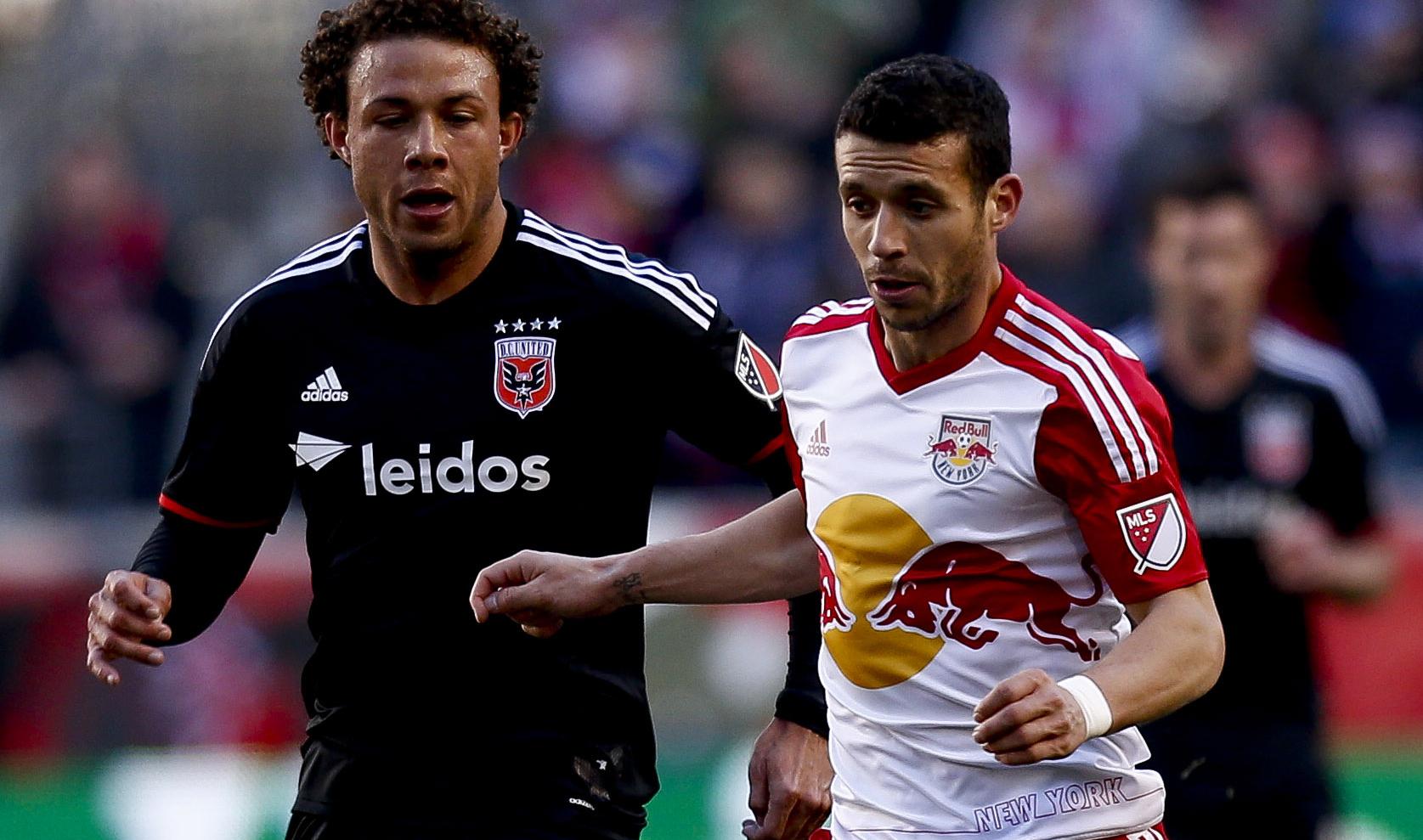 Felipe Martins Nick DeLeon New York Red Bulls D.C. United MLS 03222015