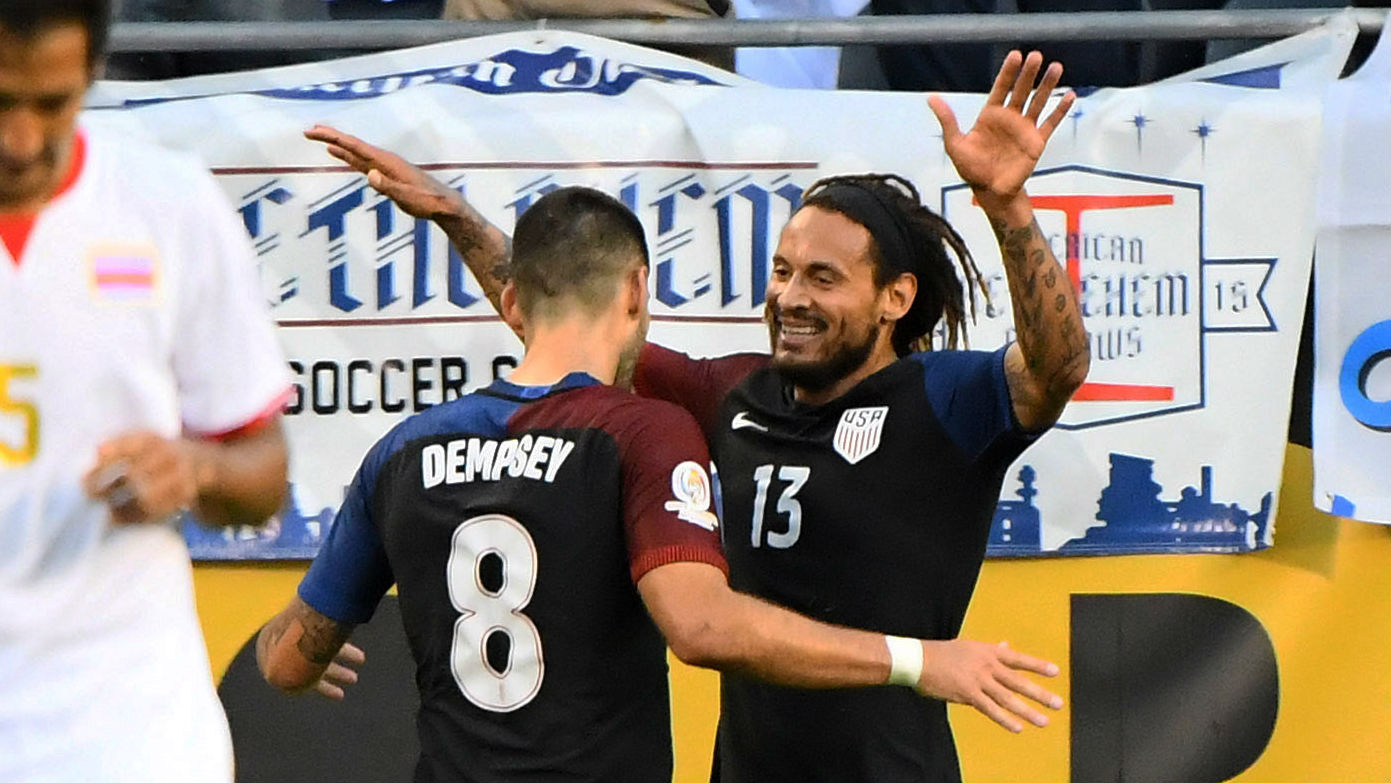 Clint Dempsey Jermaine Jones USA 06072016