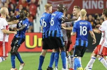 WATCH: Montreal Calum Mallace sent off for body check against Toronto FC