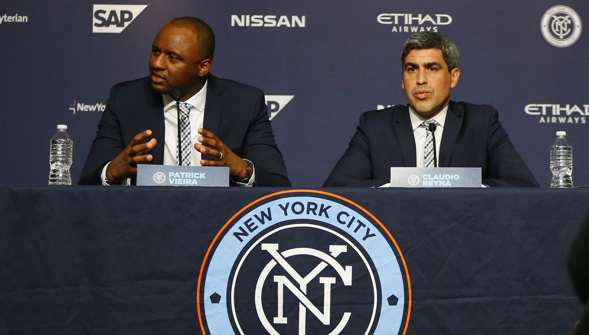 Patrick Vieira Claudio Reyna New York City FC MLS 01202016