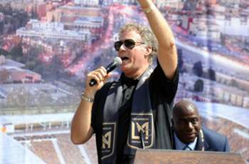 IN PHOTOS: Will Ferrell, Magic Johnson and LAFC break ground on Banc of California Stadium
