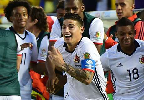 James leads Colombia to quarters