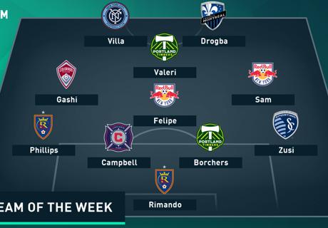 MLS TOTW: Drogba, Villa up front