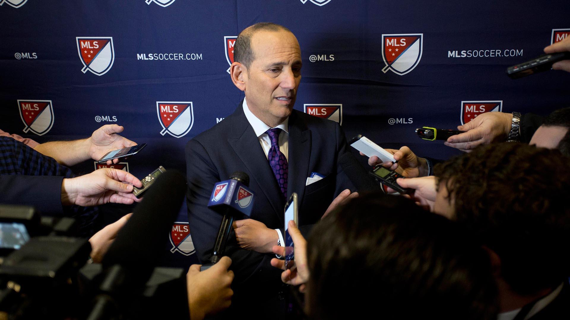 MLS commissioner Don Garber MLS SuperDraft