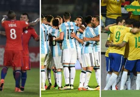 Ranking FIFA: Selecciones CONMEBOL