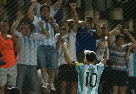 Todos los partidos de Messi en Argentina