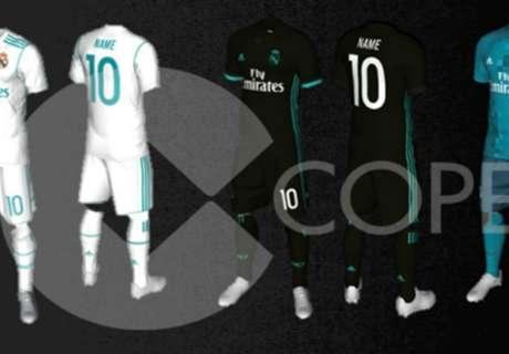 La evolución de la camiseta del Madrid
