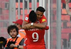 Con tantos de ambos atacantes, la Selección chilena se impone en el Estadio Monumental ante la Vinotinto por las Eliminatorias.