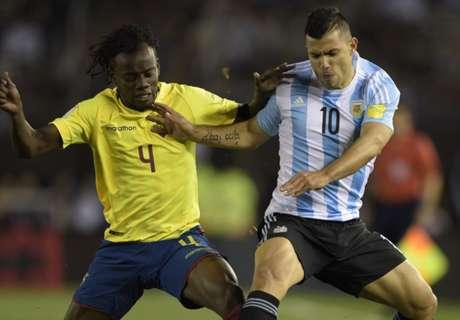 El breve partido de Agüero ante Ecuador