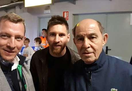 Bochini visitó a Messi